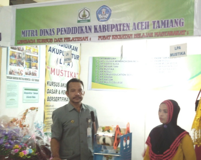 Stand LPA Mustika (YABAMUSTI) Aceh Tamiang